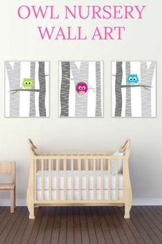 If I ever have another girl I'm totally going to have an owl theme for her nursery! So adorable. Household Organization, Nursery Organization, Home Organization Hacks, Giraffe Nursery, Nursery Wall Art, Nursery Decor, Nursery Themes, Nursery Ideas, Room Ideas