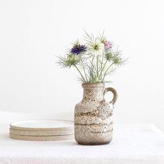Vintage Krugvase braun/beige marmoriert