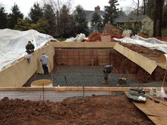 Another photo of this pool being started in Short Hills, NJ