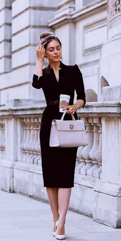 45 Trendy Business Casual Work Outfits for Women - OutfitCafe - Summer Work Outfits Stylish Work Outfits, Business Casual Outfits, Work Casual, Office Outfits, Classy Casual, Business Style, Business Women, Classy Chic, Summer Business Attire