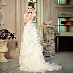 Wedding dress Pure handmade Bridal Ball gown Lace by Tiamodress