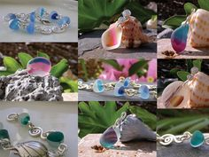 Sea glass jewelry with English sea glass!  www.naturalseaglass.com