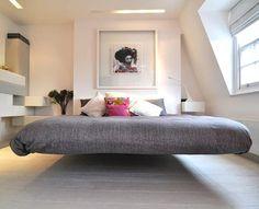 Floating Bed Frame. woah!