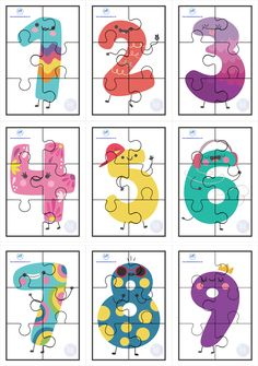 Rompecabezas de números del 1 al 10 a colores y formas 4 Year Old Activities, Toddler Learning Activities, Montessori Activities, Kids Learning, Activities For Kids, Preschool Body Theme, Numbers Preschool, Classroom Tools, Kindergarten Classroom