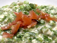 Peas in Three-Cheese Sauce