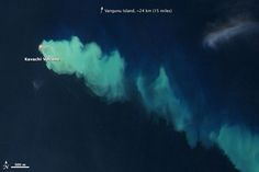 Evidence of an Underwater Eruption at Kavachi - an undersea volcano on the southern edge of the Solomon Islands in the western Pacific Ocean. NASA Earth Observatory image: Jesse Allen & Robert Simmon, using EO-1 ALI data from the NASA EO-1 team.
