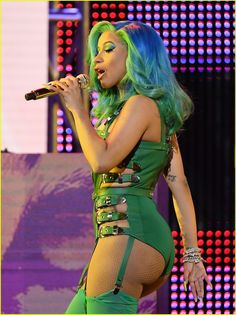 Cardi B wows in a busty teal PVC leotard at porn awards in Las Vegas Cardi B Video, Cr7 Messi, Cardi B Photos, Divas, B Fashion, Star Fashion, Curvy Girl Outfits, Sexy Outfits, Doja Cat