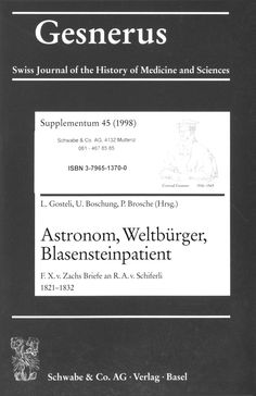 Gesnerus Swiss Journal of the History of Medicine and Sciences (1998)