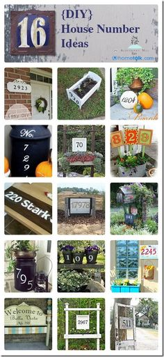 Use Grandma's screen door for House numbers??  Great idea! 16 {DIY} House Number Ideas