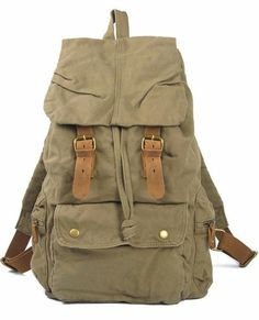 Green Canvas #Hiking Travel #Rucksack Backpack