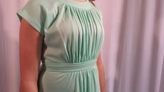 Semi Formal Mint Dress by whattawaist on Etsy, $39.00