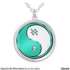 Aquarius the Water Bearer Round Pendant Necklace