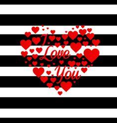Imagens para imprimir- plano de fundo listrado preto e branco - coração-I love you-  Blog Dikas e diy