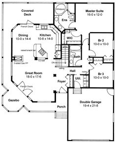 Plan No.201940 House Plans by WestHomePlanners.com