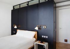 Blue Black Apartment bed