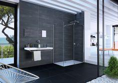 Xtensa pure Walk In Gleittür Drainage, Glas Art, Duravit, Construction, Design Awards, Sliding Doors, Bathtub, Pure Products, Shower