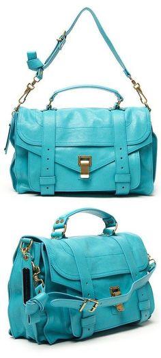 Aqua Proenza Satchel Handbag