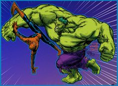 Hulk vs Spidey - pencils by EJ-Su by cyomAn.deviantart.com on @deviantART