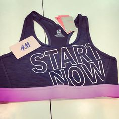 """#Giveaway Sooooo I went to @hm to get me something cute for my bday...and found this really awesome and inspirational sports top. Had to get.  Because of this message """"Start Now"""" I want to inspire and motivate you to do just that. The next goddess to join my #SummerStrong Fitness Group will receive $25 gift card to H&M to get their inspirational wear!  If you're an Aries like myself...I'll double it. Happy birthday gift from me to you. Hit me up for info on how to get in where you fit in…"""