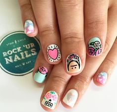 Rock Nails, Swag Nails, Cute Nails, Pretty Nails, Hair And Nails, My Nails, Hippie Nails, Gelish Nails, Manicure E Pedicure