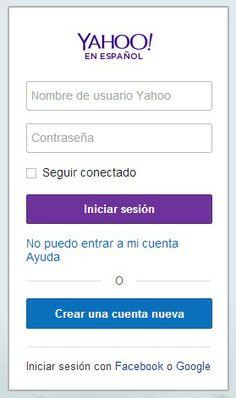 Estos son los pasos para crear correo electrónico en Yahoo Ingresa a esta dirección www.espanol.yahoo.com, te encontrarás en la página para acceder a una cuenta existente.