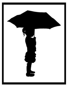 Silhouette - girl with umbrella by BabyDobbinsEtsy, via Flickr