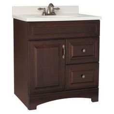 Gallery 30 in. W x 21 in. D x 33.5 in. H Vanity Cabinet Only in Java-GJVM30DY at The Home Depot $260