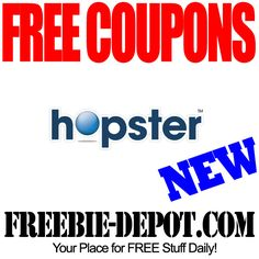 FREE Coupons  Hopster - Boost your coupon values!