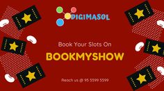 Grow your business with Bookmyshow ads. Book your slots in the weekend and reach more target audience. For more details reach us @ 95 5599 5599 write to on @ reshma@digimasol.com #branding #marketingstrategy #marketing #theweekend #bookmyshow #digimasol #ads Target Audience, Digital Marketing Services, Growing Your Business, Slot, Branding, Ads, Writing, Books, Brand Management