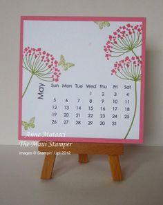 Maui Stamper May 2013 Calendar