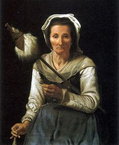 1646-48 Old Woman Spinning, Micheal Sweerts, Flemish