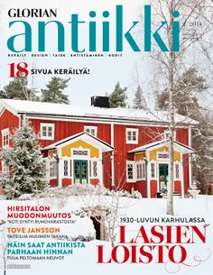 Magazine cover Red wooden house from southern Finland. Tove Jansson, Wooden House, September 2014, Finland, Southern, Sari, Magazine, Country, Cover