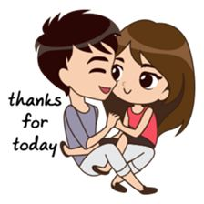Cute, funny, lovely couple sticker for those who in love Cute Love Pictures, Cute Cartoon Pictures, Cute Love Gif, Love Cartoon Couple, Anime Love Couple, Cute Couple Drawings, Cute Love Cartoons, Love Illustration, Love Stickers