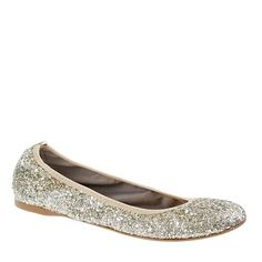 there is no reasonable need for glitter flats. all the more reason to wear them.