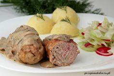 Frykadelki wieprzowe z boczkiem w sosie pieczarkowym | Przepis Na Talerzu