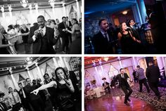 The Rhythm Shop plays during a wedding at the Crystal Plaza in Livingston, NJ. Captured by NJ wedding photographer Ben Lau.