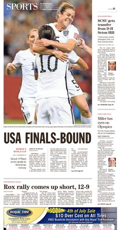 News Design: St. Cloud Times' July 1, 2015 sports cover
