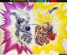 Frieza and Son Goku by unic_art_work via Instagram : dbz