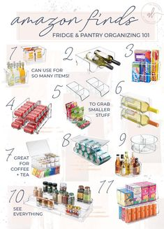 Everything You Need to Organize Your Kitchen Pantry - Andee Layne Small Pantry Organization, Refrigerator Organization, Kitchen Organisation, Home Organization Hacks, Organize Fridge, Organized Pantry, Organising, Organize Small Pantry, Dollar Store Organization