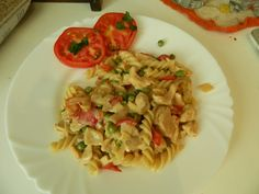 Chicken with pasta and vegetables