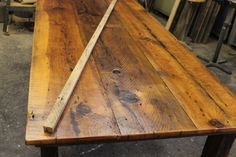 using reclaimed barnwood to make a table