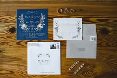 Navy and gray wedding stationary from @Minted. See more on Savannah Soiree. http://www.savannahsoiree.com/journal/elegant-navy-wedding-at-savannah-station