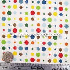FREEWAY DOT Alexander Henry Bright Multi Polka Dot by zeetzeet, $9.50