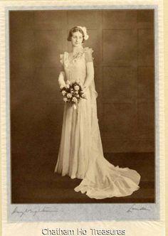 Stunning Vintage Wedding Photo Signed Hay Wrightson Bride Portrait   eBay