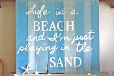 Recycled Beach Pallet Wall Art by ElizabethKateDecor on Etsy, $40.00