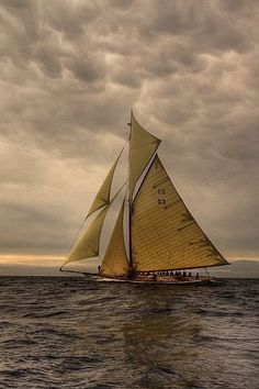 Stormy skies, windy sails