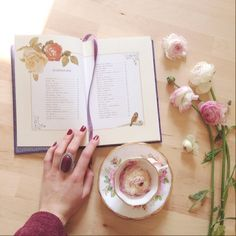 Tea Stains, Coffee And Books, Bullet Journal Inspiration, Simple Pleasures, Happy Girls, Best Part Of Me, Girly Things, Book Lovers, Pretty In Pink