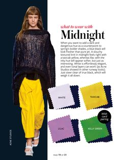 What to wear with...midnight blue.