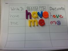 Daily 5 word work ideas.... Write it, Build it, Decorate it! A big hit in my classroom!
