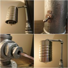 Industrial Chic Pipe Lamp details by RizzoAndCrane
